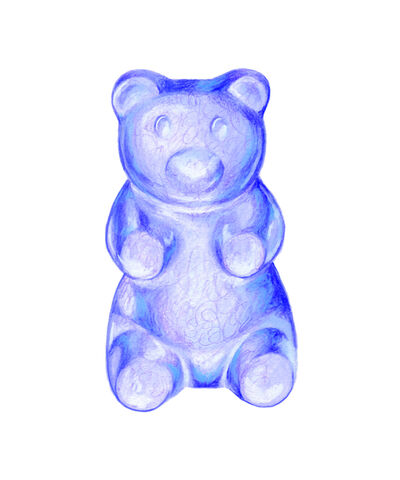 Kendyll Hillegas, 'Gummy Bear Blue', 2017