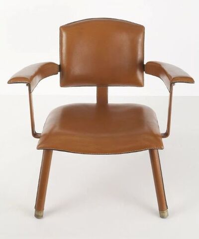 Jacques Adnet, 'Rare Leather Armchair', ca. 1950