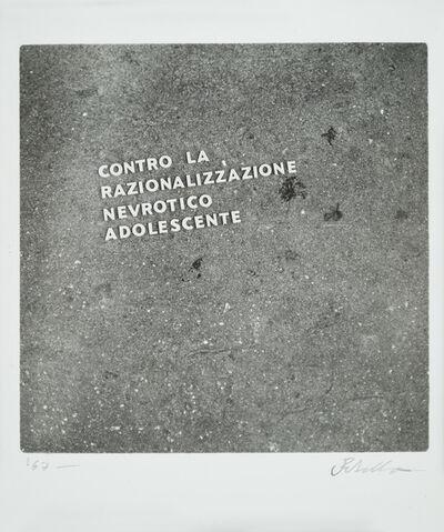 Luca Maria Patella, ' Contro la razzionalizzazione nevrotico adolescente', 1966
