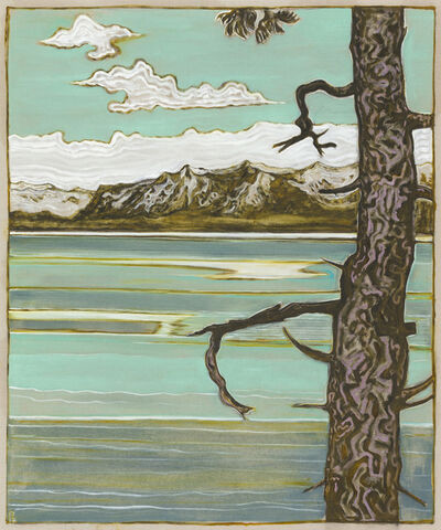 Billy Childish, 'pines and mountains', 2017