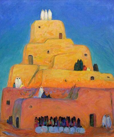 Eda Elizabeth Sterchi, 'A Pueblo (Taos)', 1919