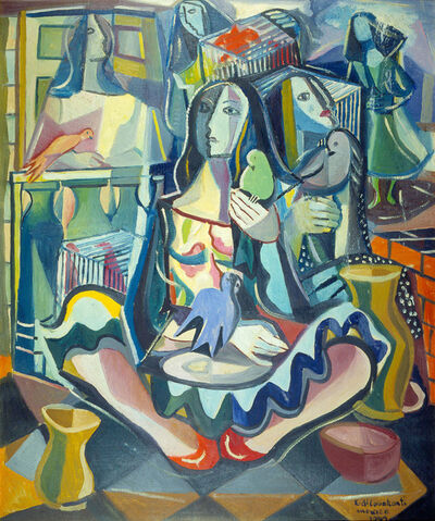 Emiliano Di Cavalcanti, 'Retrato de María Asúnsolo', 1942