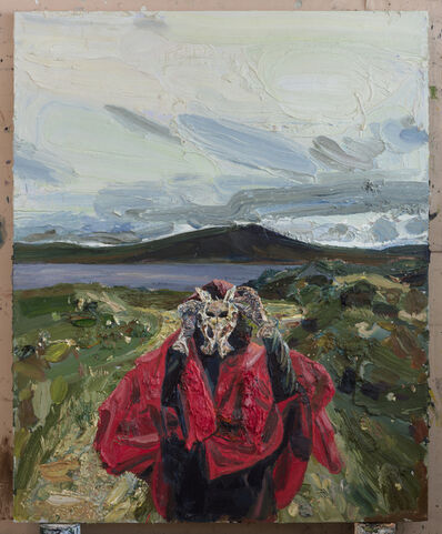Allison Schulnik, 'Pelvic Bone at Loch Fannich', 2017