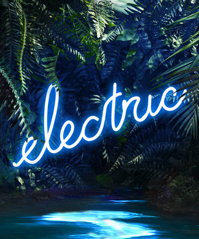 Yee Wong, 'Disco in the Jungle: Electric Blue'