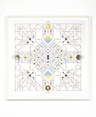 Leonardo Ulian, 'Technological Mandala 102 (Square Seal)', 2017