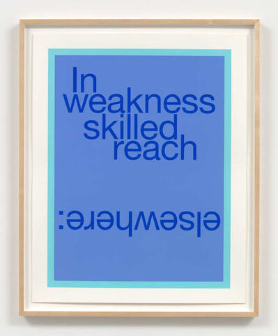 Renée Green, 'In weakness skilled reach elsewhere:', 2020