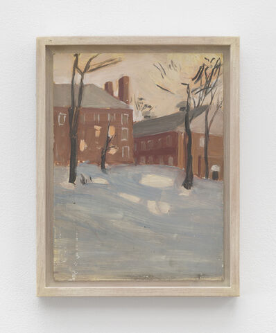 Fairfield Porter, 'Untitled [Amherst College Building in Snow]'
