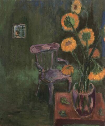 Anne Delaney, 'Sunflowers in the Studio', 2019