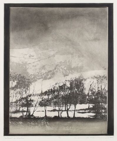 Norman Ackroyd, 'Cartmel in Winter'