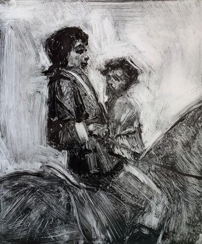 Paul Davis, 'Figures on Horseback'
