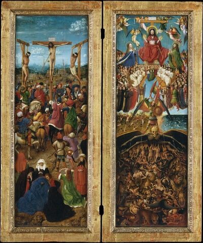 Jan van Eyck, 'The Crucifixion; The Last Judgment', ca. 1440–1441