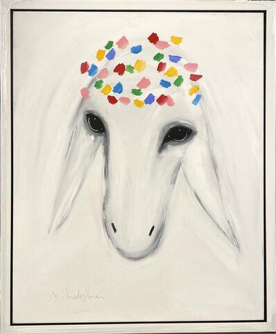 Menashe Kadishman, 'White Sheep', ca. 1990