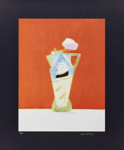 Craigie Aitchison, 'Still Life on Vermillion', 2008