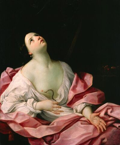 Guido Reni, 'Cleopatra with the Asp', ca. 1628