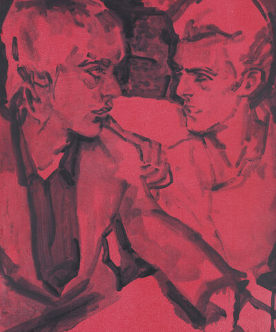 Elizabeth Peyton, 'Berlin (Iggy and David)', 2018
