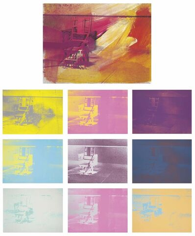 Andy Warhol, 'Electric Chairs matching numbers portfolio', 1971