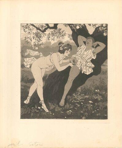 Emil Sartori, 'Erotic Scene II - Illustration', 1907