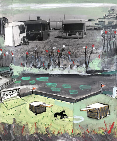 Juan Ugalde, 'Camiones y caballos', 2019