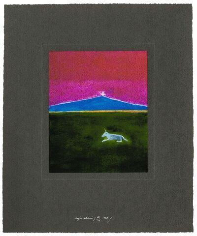 Craigie Aitchison, 'Unicorn in a landscape', 1998