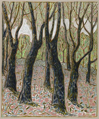 Billy Childish, 'beech wood', 2016