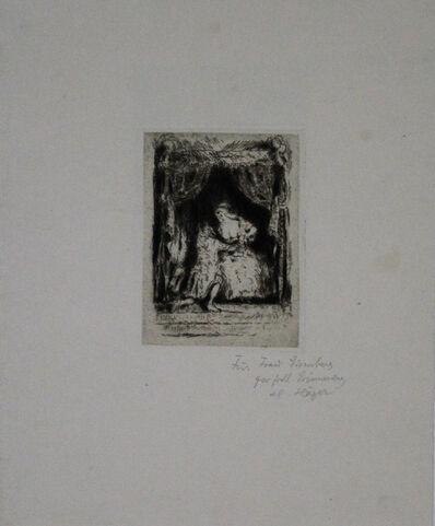 """Hermann Häger, 'Aus """"die Verliebte Weisheit Der Ninon""""', 1920"""