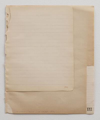 Alicia Mihai Gazcue, '3 Códigos (3 Codes)', 1974