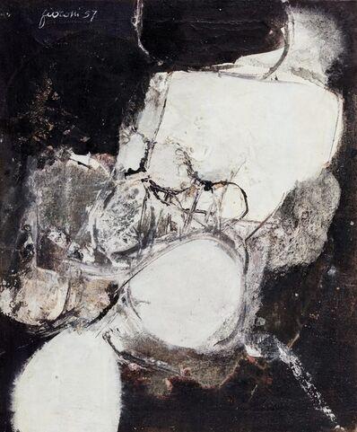 Giosetta Fioroni, 'Colpito in viaggio', 1957