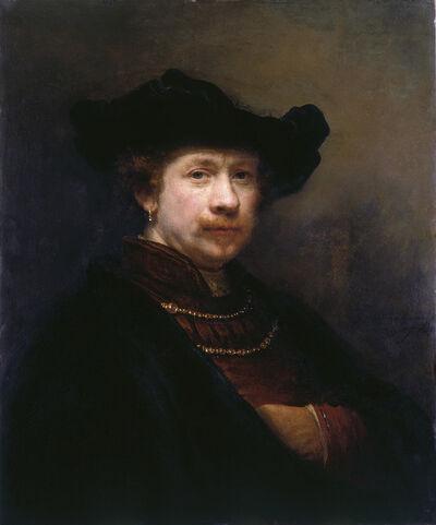 Rembrandt van Rijn, 'Self-portrait in a Flat Cap', 1642