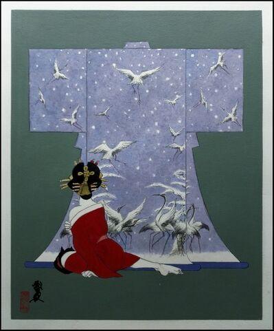 Hideo Takeda, 'Kimono: Snow Cranes', 2017