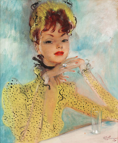 Jean Gabriel Domergue, 'Femme à la Robe Jaune (Lady in a Yellow Dress)', 1919-1970