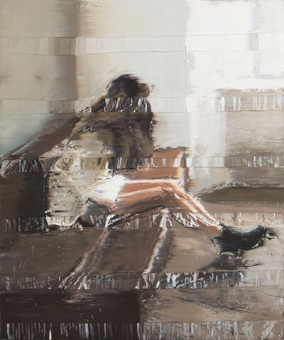 Andy Denzler, 'Girl On a Brown Leather Sofa', 2016