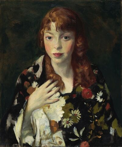 Robert Henri, 'Edna Smith in a Japanese Wrap', ca. 1915