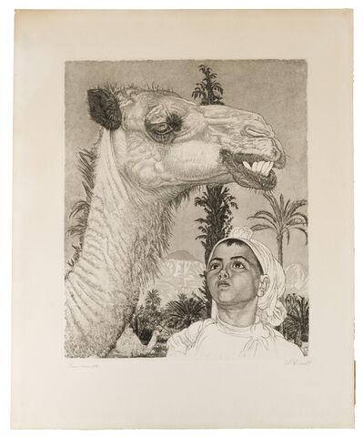 Eduard Wiiralt, 'Berber girl with camel', 1940