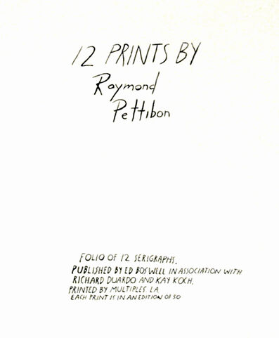 Raymond Pettibon, 'Cover Sheet Tirage, Not signed, but limited to the number of portfolios in the edition', 1990