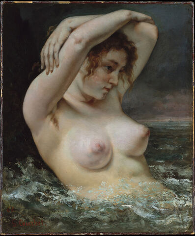 Gustave Courbet, 'The Woman in the Waves', 1863