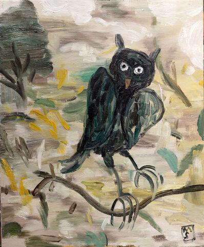Matías Sánchez, 'Buh en una rama', 2020