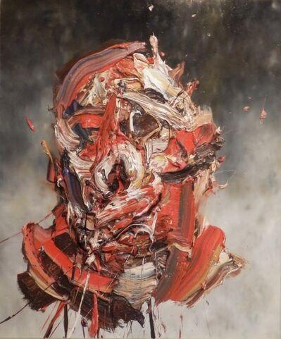 Antony Micallef, 'Self Portrait on Grey', 2015