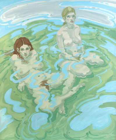 Neil G. Welliver, 'Two Nudes (Twice)', 1970
