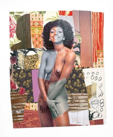 Mickalene Thomas, 'July 1977', 2019