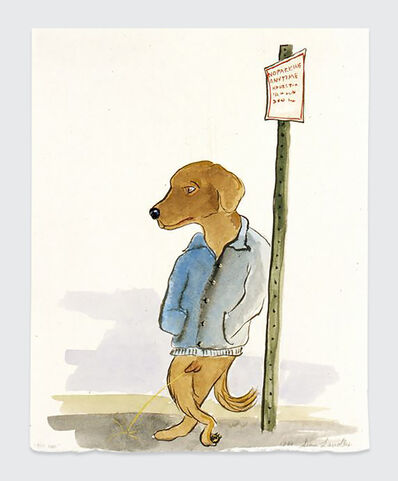 Sean Landers, 'Piss Dog', 1999