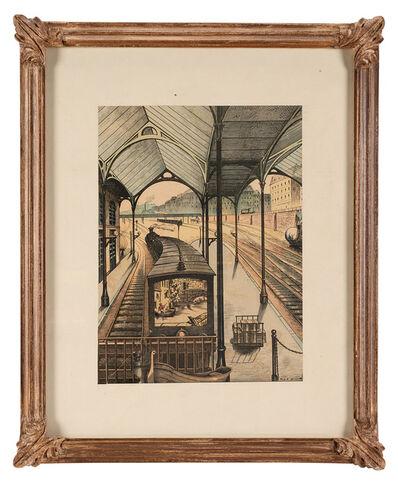 """Max Ernst, '""""L'Orient Express"""", original illustration for """"Lieux communs. Onze poèmes et douze collages""""', 1970"""