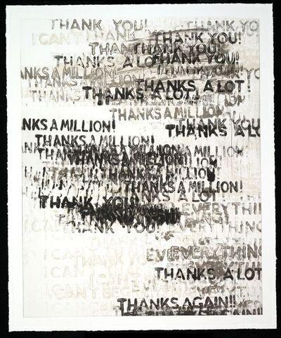 Mel Bochner, 'Thanks', 2015
