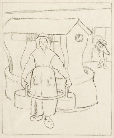 Camille Pissarro, 'Paysanne au Puits', ca. 1890
