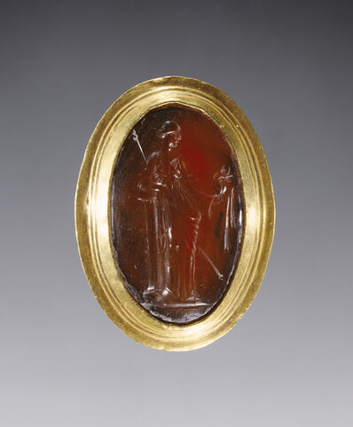 'Ring inset with intaglio representing Fortuna', 220 -100 BCE