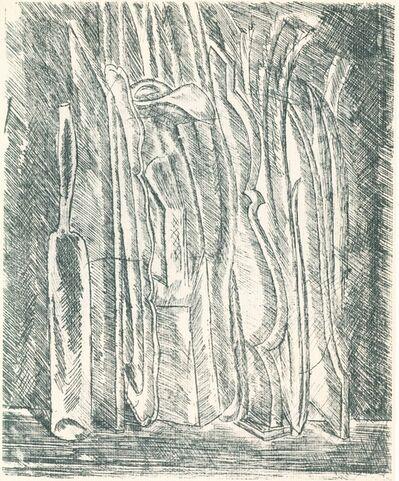 Giorgio Morandi, 'Natura morta con bottiglia e brocca', 1915