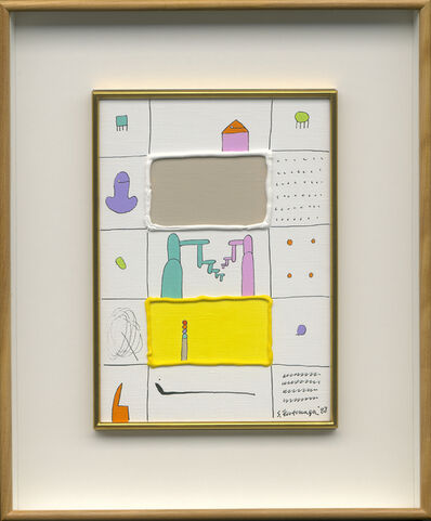 Sadamasa Motonaga, 'White and Yellow in the Bulges', 1988