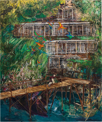 Hernan Bas, 'Cannibalistic, noisy and abusive, but picturesque and popular withal', 2011