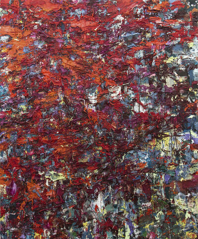 Adam Cohen, 'Fire Storm - bold, red-orange, impasto, abstract expressionist acrylic on canvas', 2017