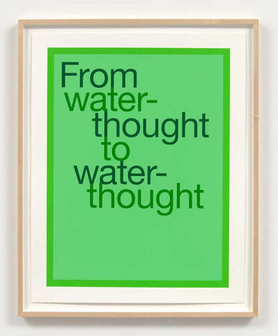 Renée Green, 'From water-thought to water-thought', 2020