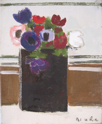 Janice Biala, 'Untitled (Flower Bouquet in Black Vase)'